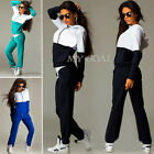 2Pcs Womens Tracksuit Hoodies Sweatshirt Pants Sets Sport Wear Heart Casual Suit