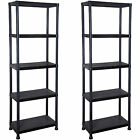 INDUSTRIAL 4/5 TIER PLASTIC/METAL HEAVY DUTY RACKING SHELVES STORAGE UNIT GARAGE