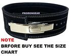 "Weight Lifting Bodybuilding Leather Lever Power Belt 4"" Wide"