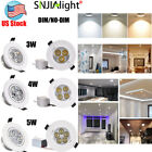 3W 5W 7W Recessed Dimmable LED Ceiling Downlight Lamp + Driver  Warm Cool White