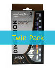 2 x Mont Marte Dimension Acrylic Intro Set - 8 18ml tubes (PMDA8181)