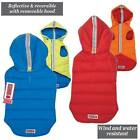 KONG Reversible Puffy Vest For Dogs All Weather Jacket Reflective Coat with Hood