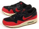 Nike Wmns Air Max 1 Essential Black/Gym Red-Sail-Gum Medium Brown 599820-018