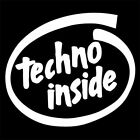 TECHNO INSIDE (house music vinyl poster cd party dj remix club dance) T-SHIRT