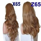 HONEY Long Curly Layered Half Wig Hair Piece Ladies 3/4 Wig Fall Clip in