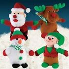 Zanies Holiday Friends Dog Toy Plush Elf Snowman Santa Reindeer Play X-Mas Music