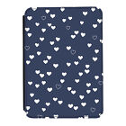 Blue Hearts Pattern Love Navy Kindle Paperwhite Touch PU Leather Flip Case Cover