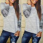 2015 New Fashion Womens Long Sleeve Shirt Casual  Blouse Loose Tops T-Shirt