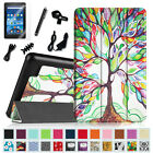 7in1 Bundle Slim Case Stand Cover for Amazon Fire 7 Tablet (5th Gen, 2015 Model)