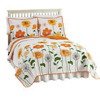 Collections Etc Reversible Sunshine Floral Bedroom Quilt