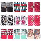 For Alcatel OneTouch Fierce XL Design PU Leather Wallet Cover Case