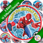 Spiderman Icing Sheet Round Cake Topper Picture with Personalisation B