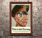 This is the Enemy #1 - US World War 2 Propaganda Poster WWII
