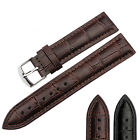 Kyпить Black Brown Genuine Leather Watch Strap Band Mens Stainless Steel Buckle на еВаy.соm