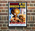 Invasion of the Saucer Men - Vintage Sci-Fi Film-Movie Poster 2 sizes available