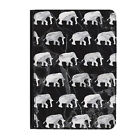 """Grey Marble Elephants Animals Universal Tablet 7"""" Leather Flip Case Cover"""