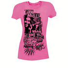 Bob Marley Wanna Love Ya PINK Juniors Ladies T-Shirt