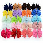 Ribbon Hair Bows WITH Clip Baby Girl's Boutique Pinwheel HairBows Hair Clips