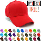 Plain Baseball Cap Strapback Adjustable Solid Blank Hat Polo Style Visor Caps