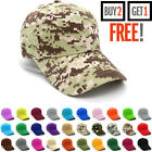 Plain Baseball Cap Blank Adjustable Solid Hat Curved Visor One Size New