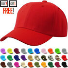 Внешний вид - Baseball Cap Plain Blank Strapback Adjustable Solid Hat Polo Style Visor Hat
