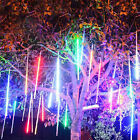 144/240 LED 30CM/50CM Light Meteor Shower Rain Snowfall 8 Tubes XMAS Tree Garden
