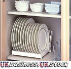 Foldable Plastic Plate Dish Drying Drainer Rack Organiser Kitchen Storage Holder