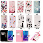 Fashion Flip Pattern Cartoon Hybrid Stand PU Leather Cover TPU Case For Samsung