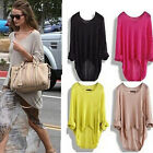 Womens Ladies Long Sleeve Chunky Knit Knitted Oversize Baggy Sweater Jumper Top