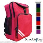 Boys Girls Childrens Kids Junior School Backpack. 7 Plain Colours.