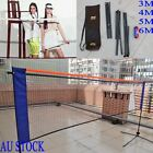 Hot 3/4/5/6M Sports Badminton Net w/ Frame Stand Foldable Garden/ Out  AU Ship
