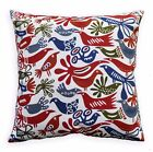 LL409a White Red Deep Olive Grey Animal Bird Cotton Canvas Pillow/Cushion Cover