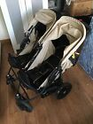 HAUCK ALMOND   CAVIAR ROADSTER DUO TWIN PUSHCHAIR DOUBLE BUGGY + 2X FOOTMUFFS +