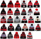 Chicago Bulls Pom Top Cuffed Beanie Winter Cap Hat Authentic New Era