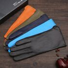 lady's winter warm classic simple style leather gloves multi colors