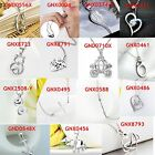 """Real 925 Sterling Silver Multi-style Fashion Pendant Necklace 18"""" Jewelry"""