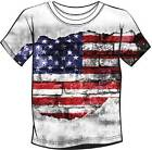 American US Flag Horizontal Rip Sublimated Adult T-shirt