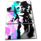 Blondie Grunge Abstract Musical TREBLE CANVAS WALL ART Picture Print VA