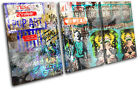 Abstract  Pop Art Graffiti TREBLE CANVAS WALL ART Picture Print VA