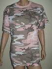 Plus Size Light Pink and Gray Cammo Top in L-XL-2X or 3X by ROTHCO