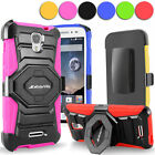 For Alcatel One Touch Pop Astro 5042T Hybrid Rugged Holster Belt Clip Stand Case