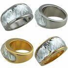 Men's Women's  Faceted Clear Crystal Promise Wedding Engagement Lover Band Ring