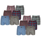 6 or 12 Pairs Mens Woven Boxer Shorts Cotton Rich Underwear Briefs