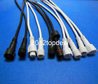 2pin 3pin 4pin White/Black Waterproof LED Strip Connector Cable Male Female IP66