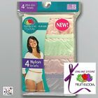Fruit of the Loom Women's Fit for Me Plus Size 100% Nylon Briefs 4-Pack