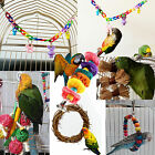 7 Styles Swing Bird Toy Parrot Rope Harness Cage Toys for Parakeet Cockatiel D