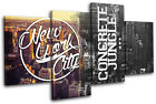 New York Typography City MULTI CANVAS WALL ART Picture Print