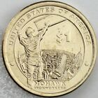 """2015 $1 Native American Uncirculated P&D Set Encapsulated - """"Mohawk Ironworkers"""""""