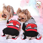 DOG PUPPY CAT Cotton Custom Harness Dress One-Piece Garment Shark Pink Party O