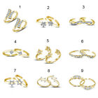 Fabulous gift 14K Gold Plated .925 Sterling Silver 1 Pair of Toe Ring@Best Price